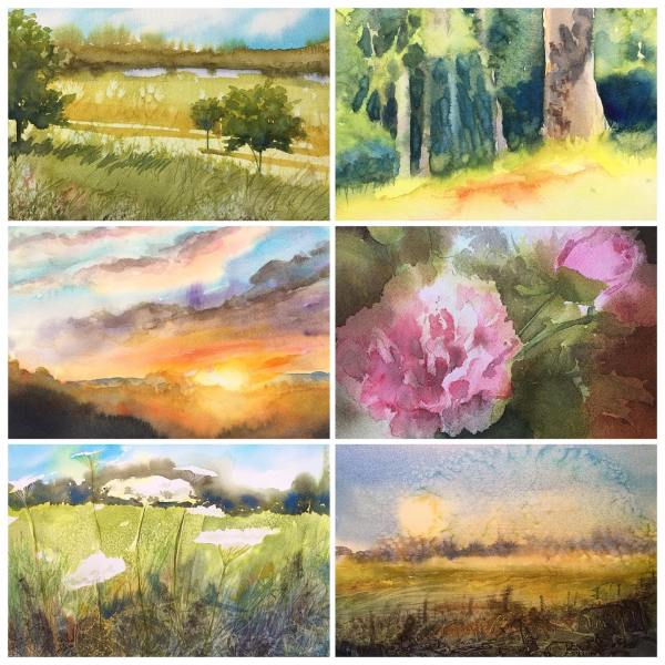 Montage of Watercolors by Jill Williams
