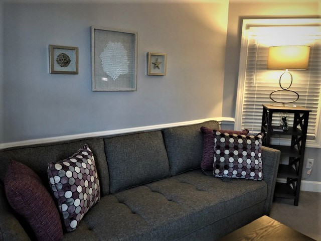 couch and light in group room