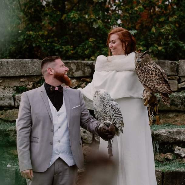 couple mariage rapaces