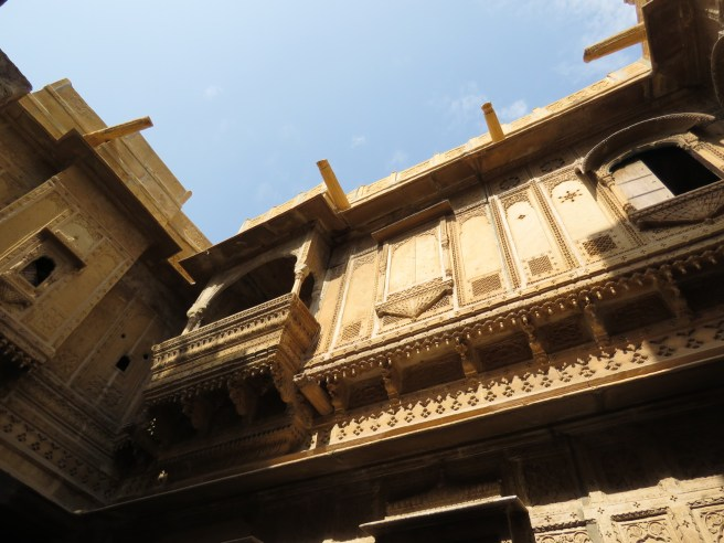 A view of his Haveli from down below