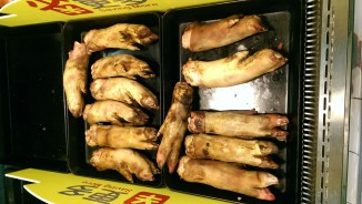 Pig feet aren't too bad. They are really fatty though, so probably not great for the heart...