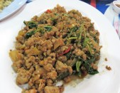 This is a basil and pork dish. Fantastic!