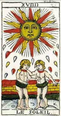 Carta del Tarot El Sol, marifranstarot.com