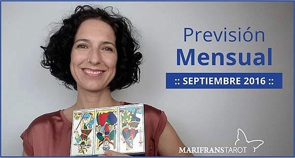 Previsión mensual con el Tarot Septiembre 2016 en marifranstarot.com