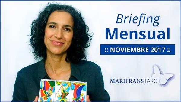 Briefing mensual con el Tarot Noviembre 2017 en marifranstarot.com