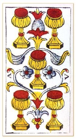 Cinco de Copas tarot de marsella tarot evolutivo tarot terapéutico tarot de madenié