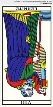 Ermitaño (invertido) Tarot millenium tarot de marsella tarot terapéutico tarot evolutivo