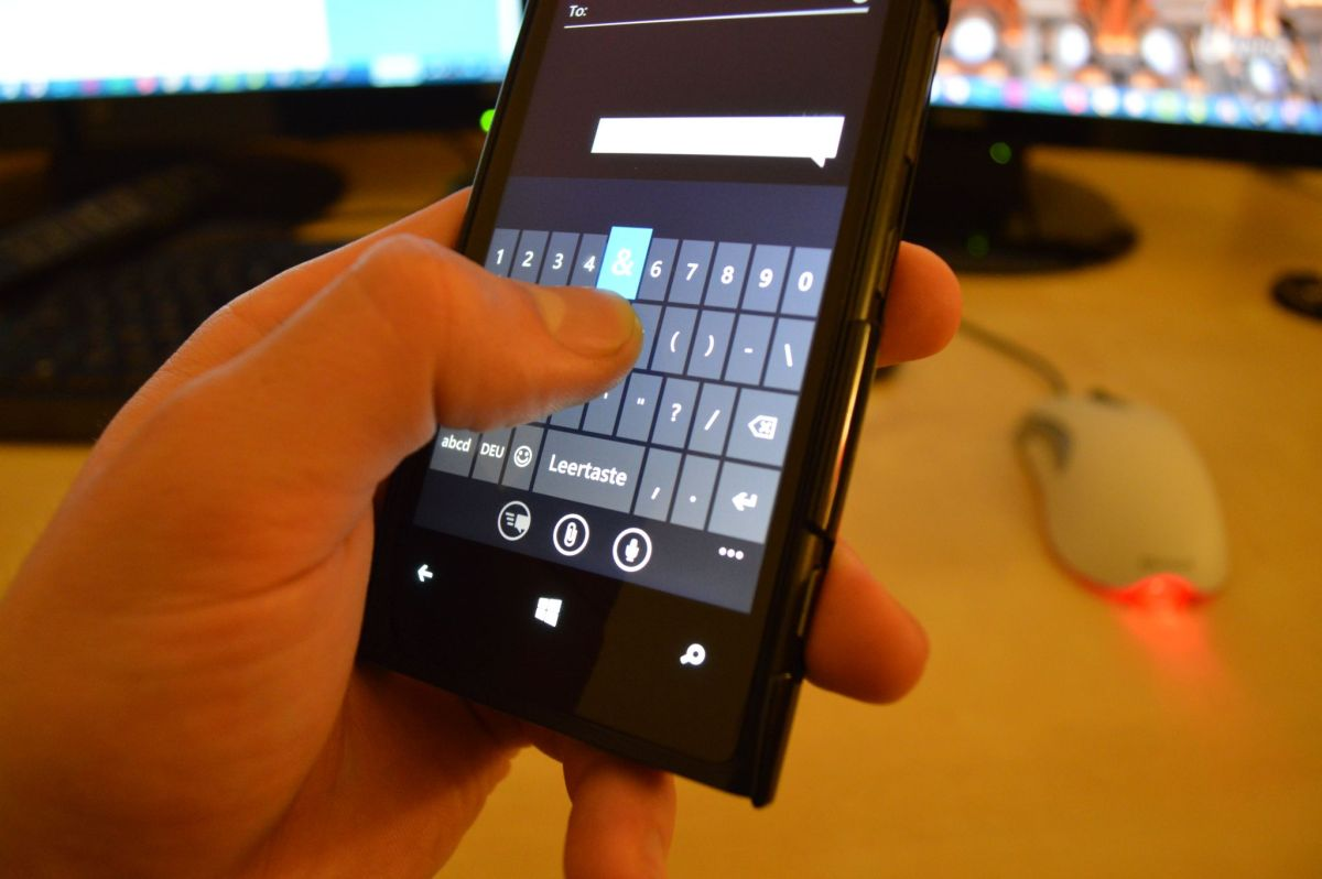 Windows Phone Keyboard Wischen