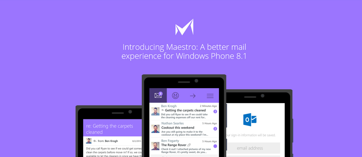 Maestro Mail-App für Windows Phone