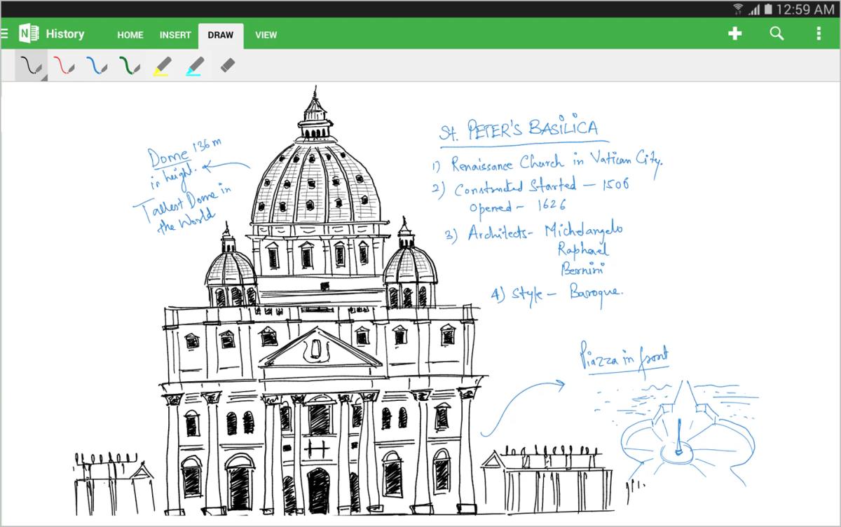 OneNote für Android-Handschrift