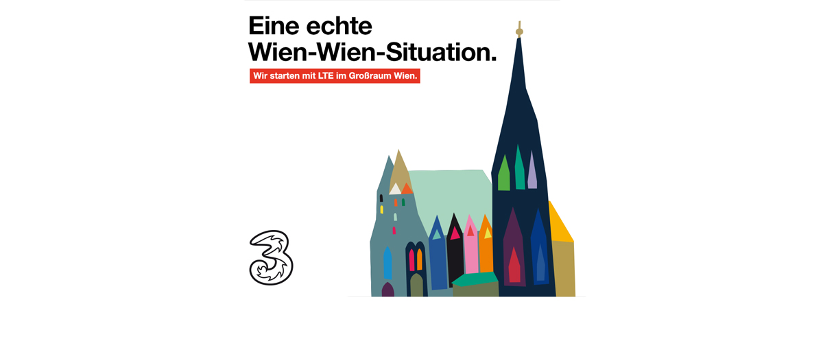 3: Größtes LTE-Netz im Wiener Raum