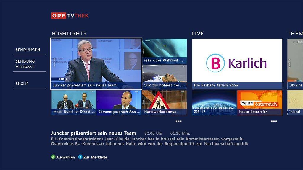 Xbox One: ORF-TVthek kommt als App!