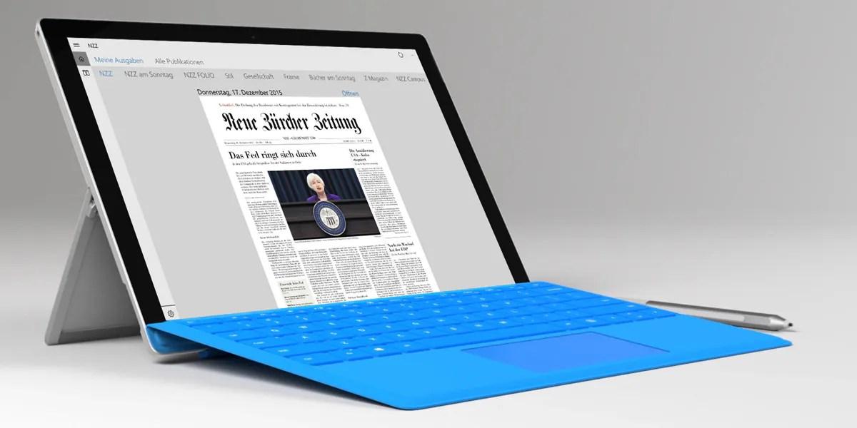 NZZ-App für Windows 10 ist da
