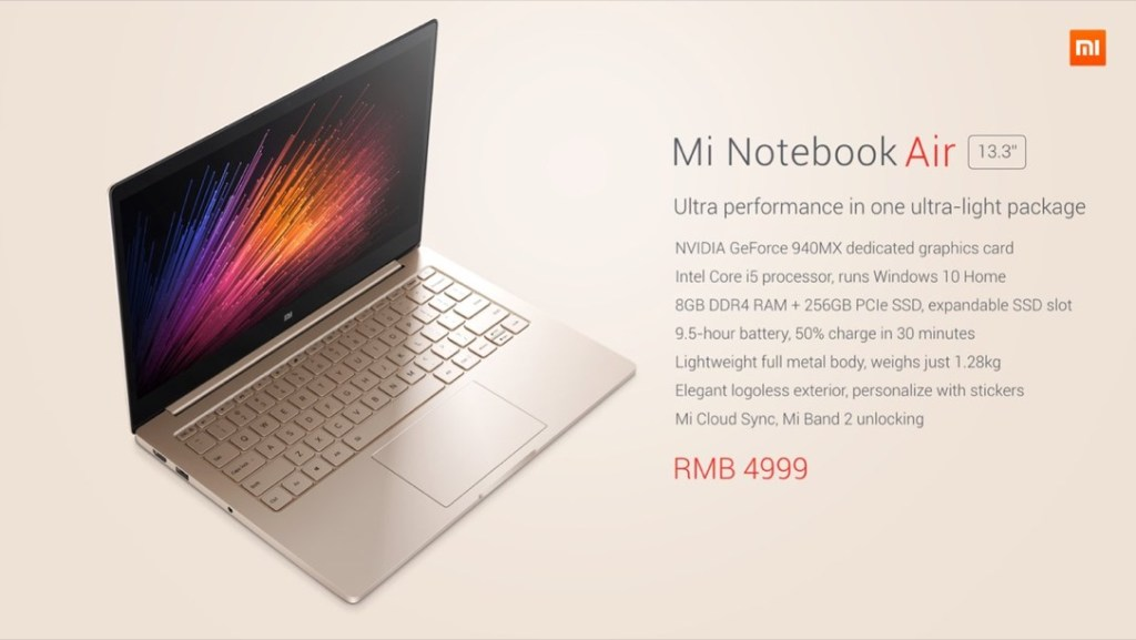 Mi Notebook Air 13,3