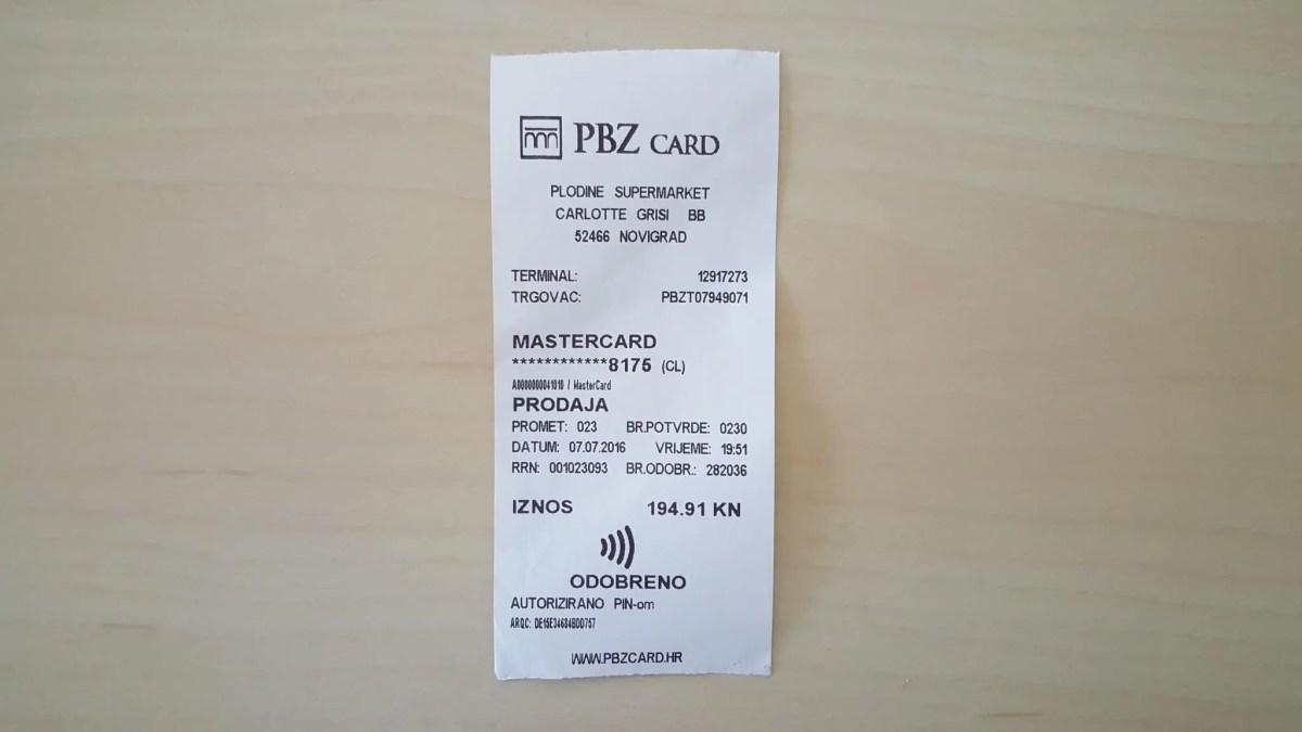 Mit NFC in Kroatien bezahlen