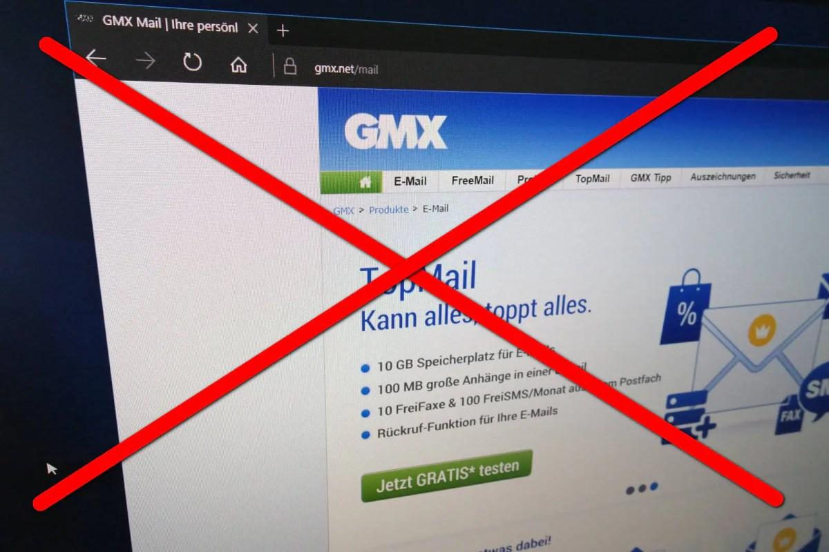 Stopp! Hör auf GMX zu nutzen.