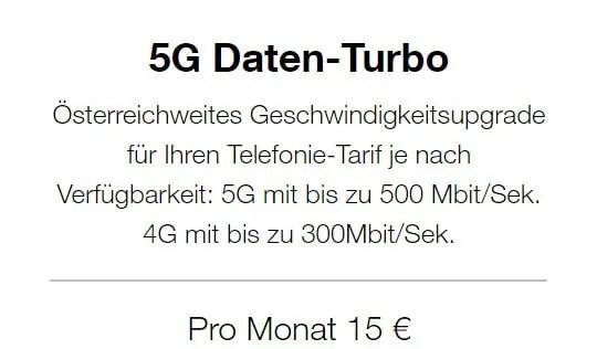 5G Datenturbo Zusatzpaket