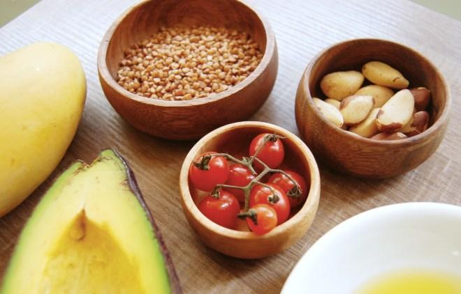 Buckwheat Salad with Mango Balsamic Vinaigrette