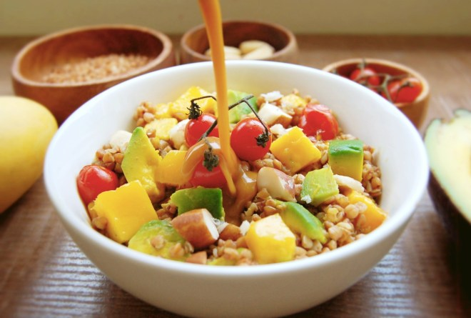 Buckwheat Salad with Mango Balsamic Vinaigrette
