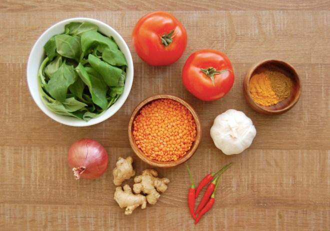 Spicy Tomato & Lentil Soup