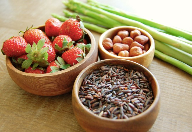 Strawberry Balsamic Black Rice Salad