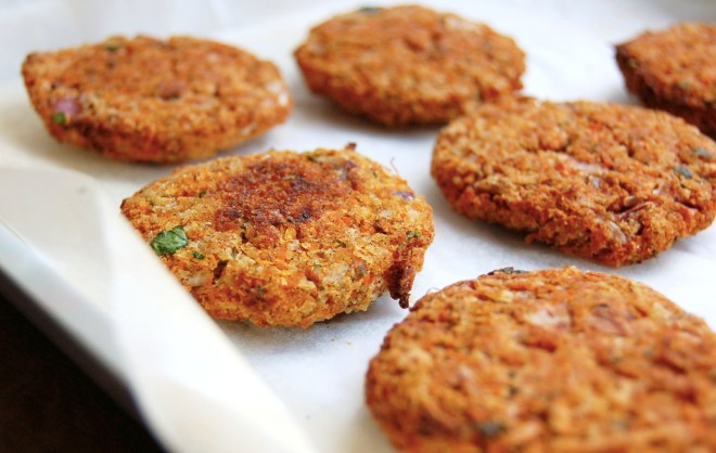 Oven Baked Carrot Coconut Fritters