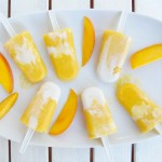 Creamy Coconut & Mango Popsicles