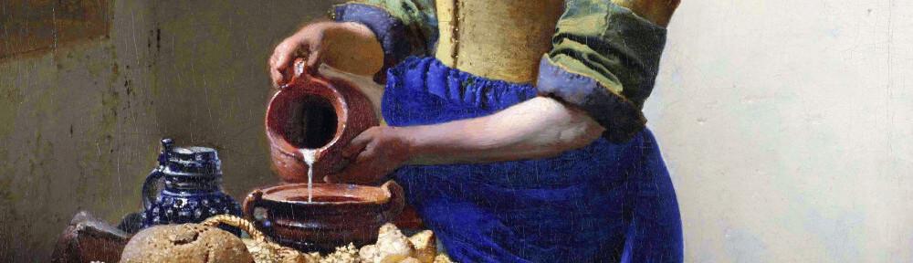 Header Johannes Vermeer, De melkmeid
