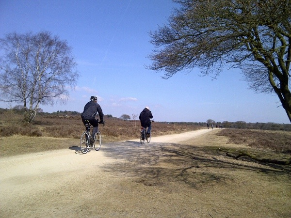 Meer fietsers op de Zuiderheide