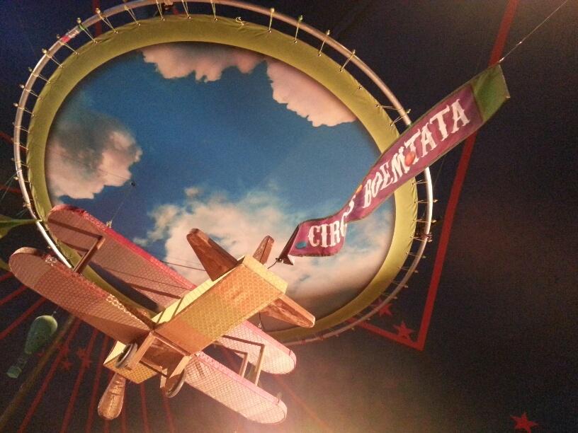 Het vliegtuig bij Circus Boemtata