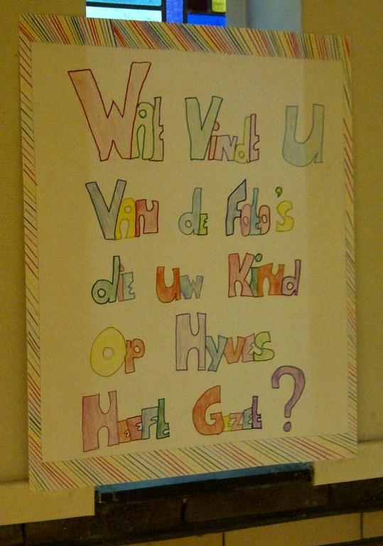Poster ouderavond. Wat vindt u van de foto's die uw kind op Hyves heeft gezet?