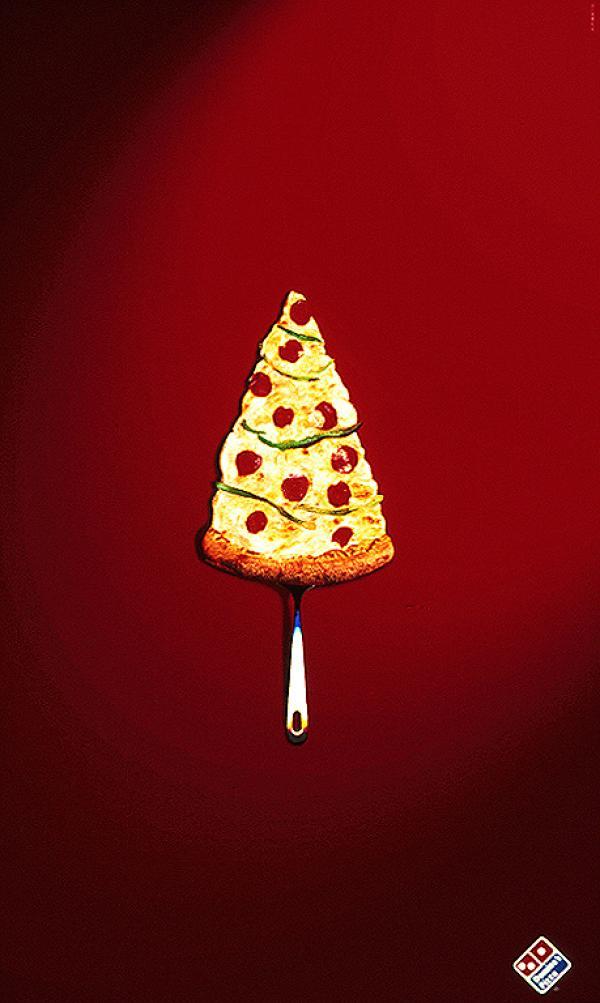 kerstboom pizza domino's