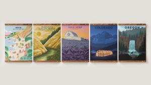 Add Cannabis-Inspired Wanderlust To Your Walls With Goldleaf's Travel Series