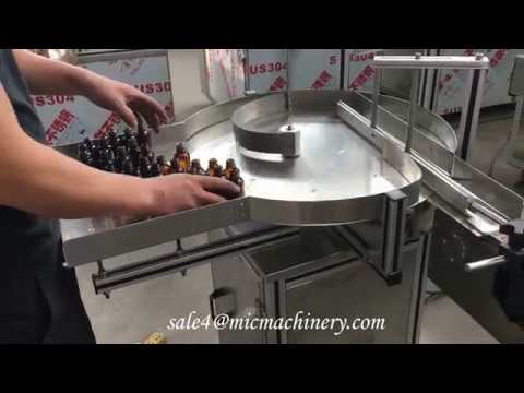 MIC-LL40 Automatic e-liquid essential cbd oil small bottle filling capping machine