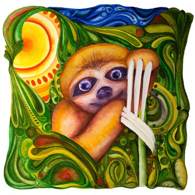 A Wise Little Sloth: Limited Edition Print of 25