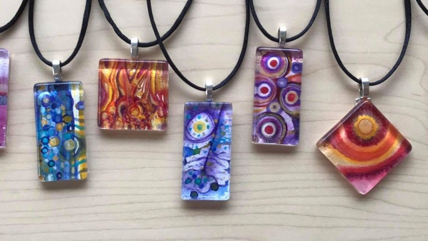 Watercolor Necklaces by Marika Reinke 2017