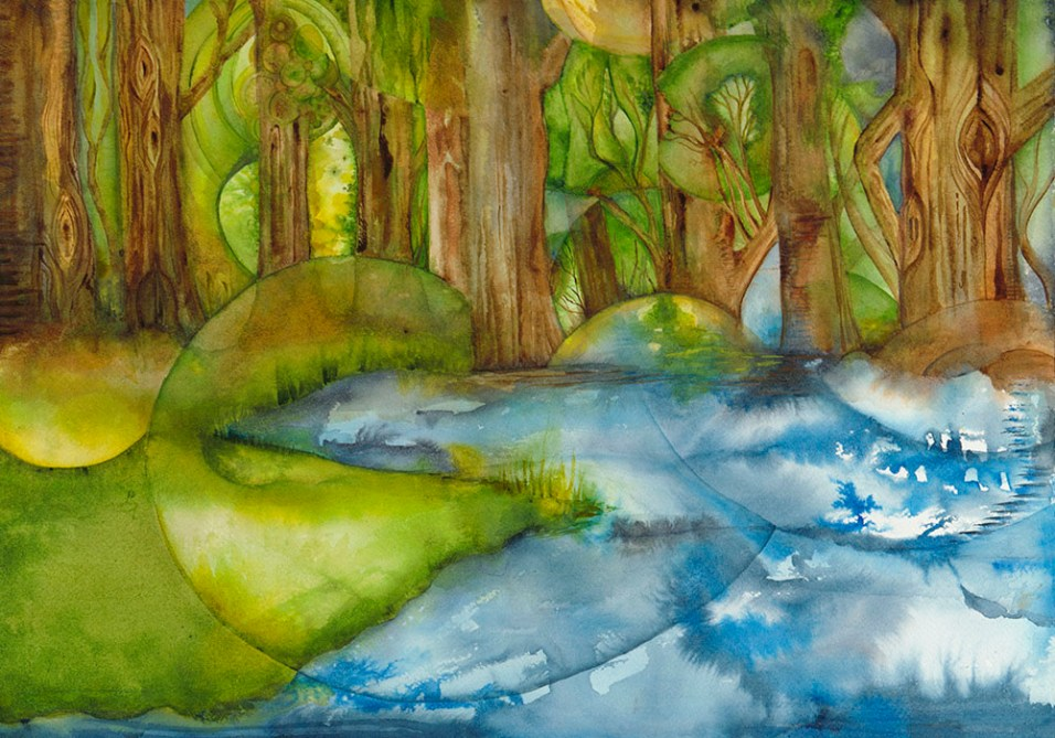 "Forest Watercolor 20"" x 14"" (c) Marika Reinke"