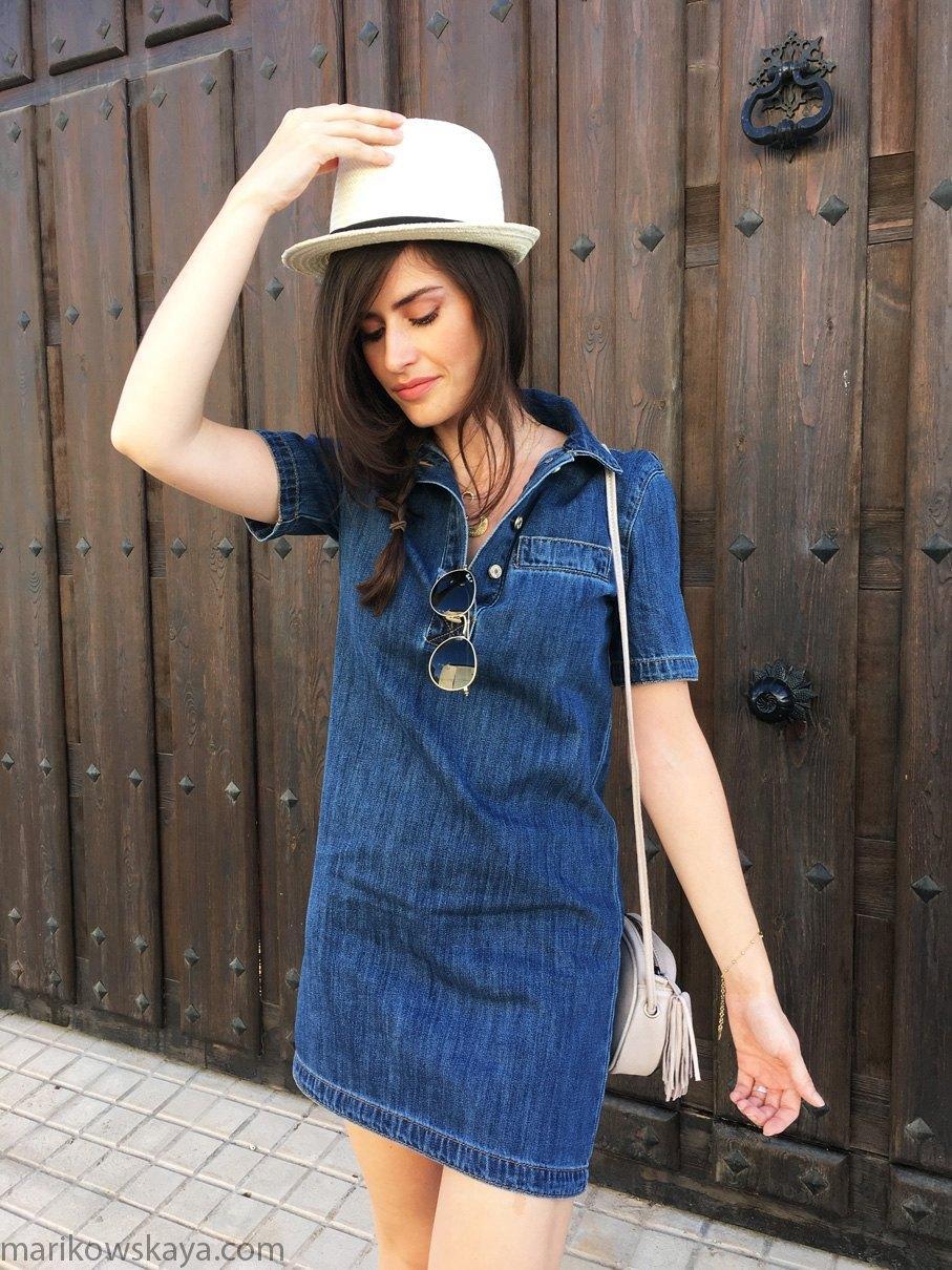 marikowskaya street style vestido vaquero 10