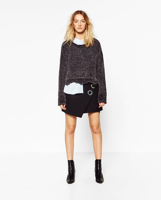 Jersey corto gris Zara