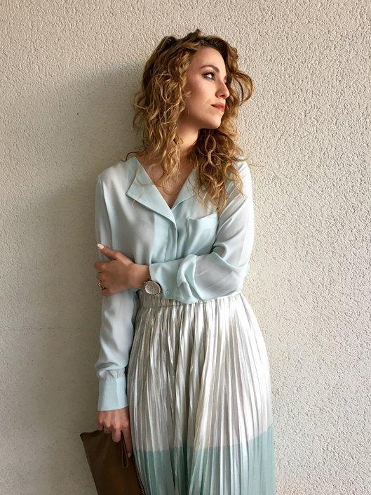 marikowskaya street style jennifer falda plisada (1)