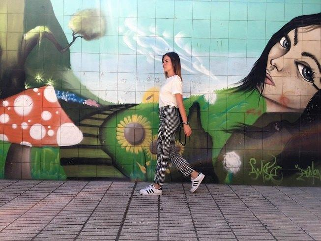 marikowskaya street style jenny pantalón vichy (1)