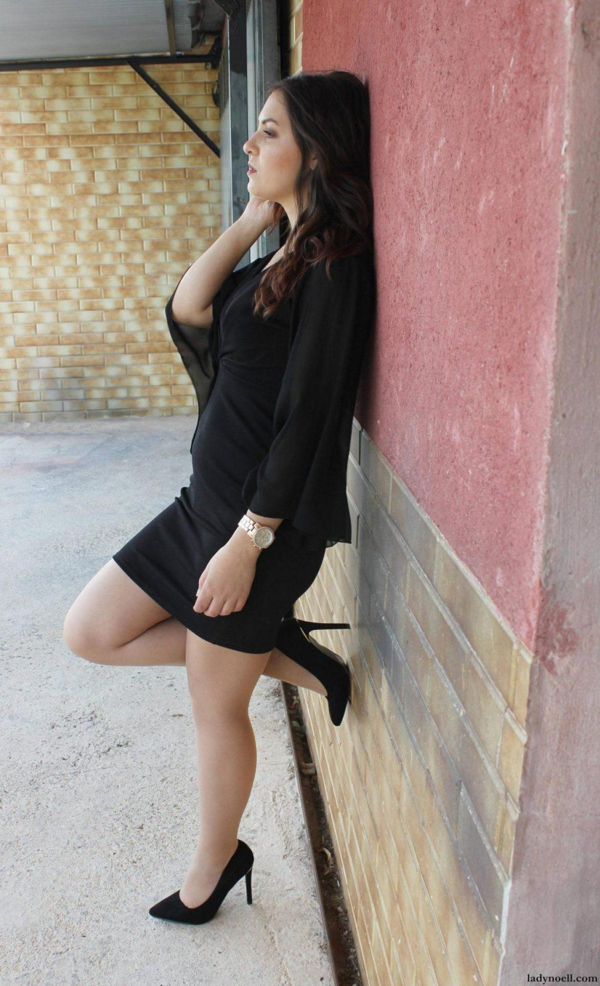marikowskaya street style noelia vestido negro (2)