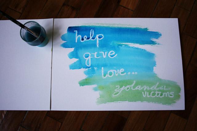 Help, Give, Love Typhoon Yolanda Victims.