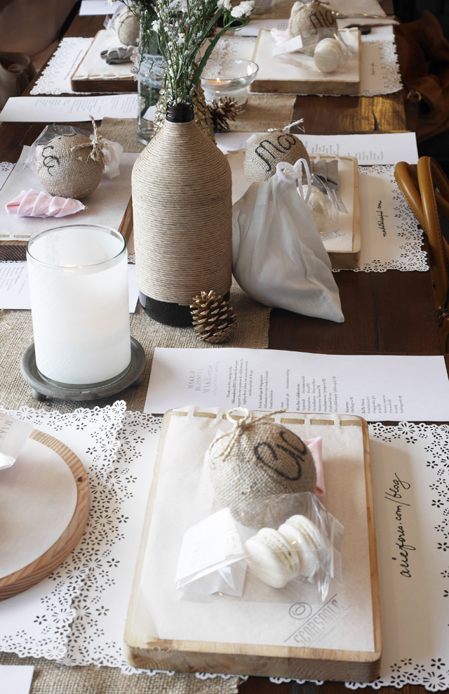 The pretty table setting and decor by Constance Event Styling.