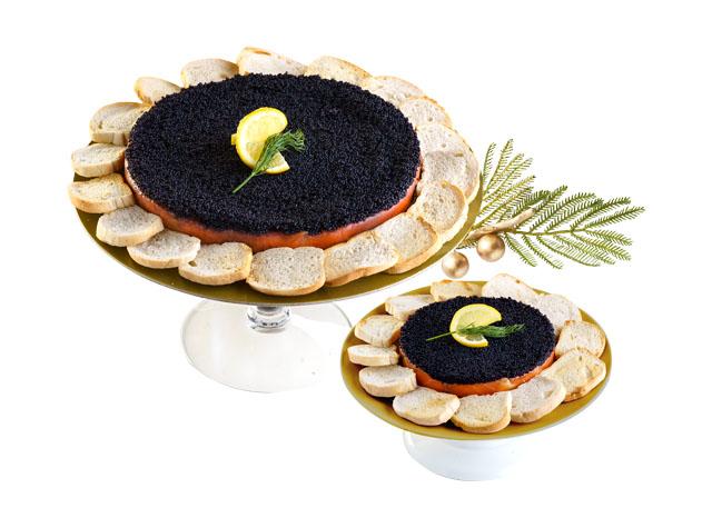 smoked salmon caviar pie