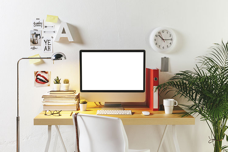 Desk of creative worker.