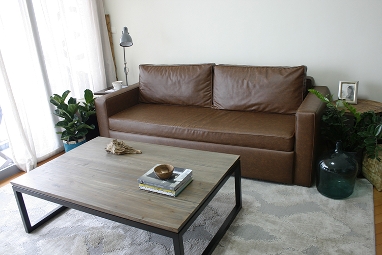My newly upholstered sofa.