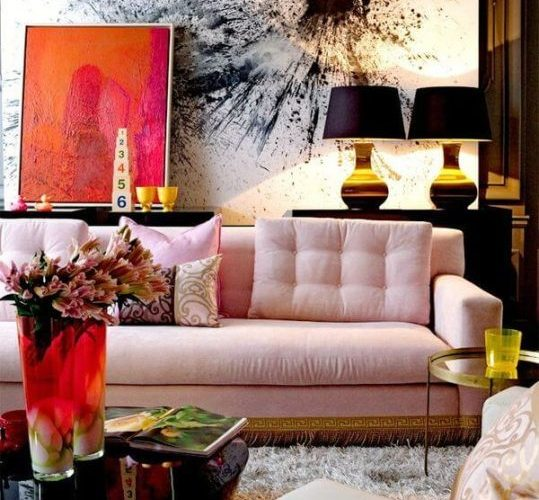 7 Living Rooms With Unusual Colored Sofas