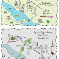 Mapas personalisados para o convite!