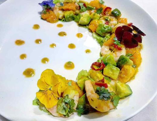 Tijgergarnalen Mango Avocado salade